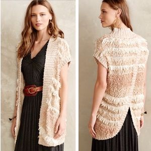 Anthropologie Moth Quinta Fringe Sweater Vest M/L